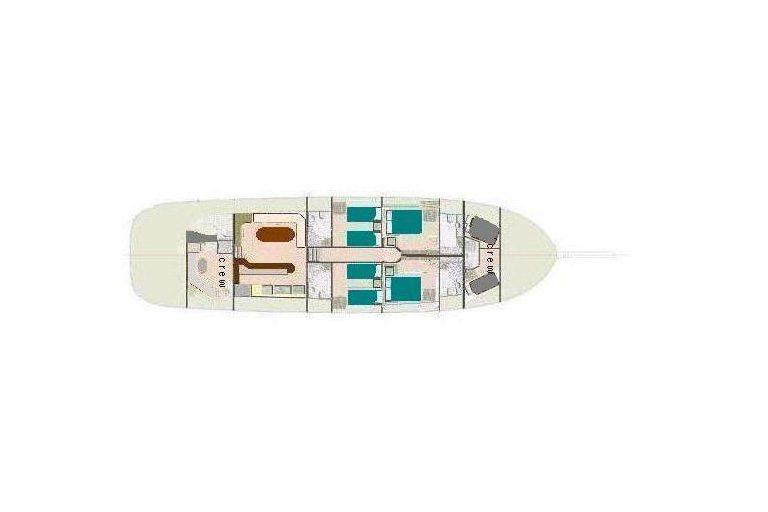 Samarkand interior Yacht layout
